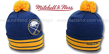 Sabres XL-LOGO BEANIE Navy by Mitchell and Ness