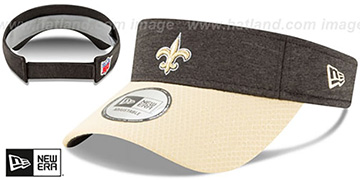 Saints 18 NFL STADIUM Black-Gold Visor by New Era