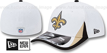 Saints '2013 NFL TRAINING FLEX' White Hat by New Era