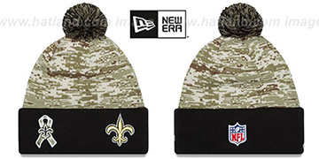 Saints 2015 SALUTE-TO-SERVICE Knit Beanie Hat by New Era