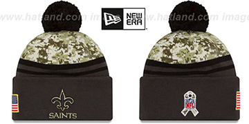 Saints 2016 SALUTE-TO-SERVICE Knit Beanie Hat by New Era