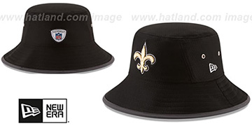 Saints '2017 NFL TRAINING BUCKET' Black Hat by New Era