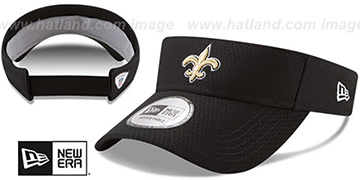 Saints 2017 NFL TRAINING VISOR Black by New Era