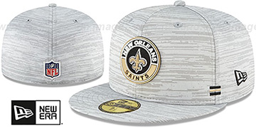 Saints 2020 ONFIELD STADIUM Heather Grey Fitted Hat by New Era