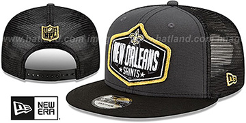 Saints 2021 NFL TRUCKER DRAFT SNAPBACK Hat by New Era
