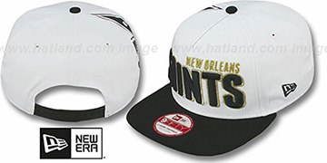 Saints 'BIGSIDE A-FRAME SNAPBACK' White-Black Hat by New Era