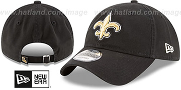 Saints CORE-CLASSIC STRAPBACK Black Hat by New Era