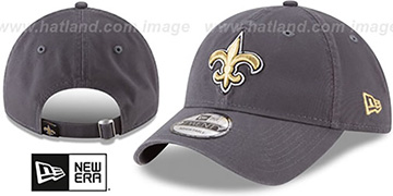 Saints CORE-CLASSIC STRAPBACK Charcoal Hat by New Era