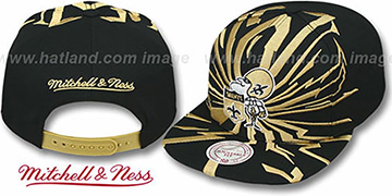 Saints 'EARTHQUAKE SNAPBACK' Black Hat by Mitchell & Ness
