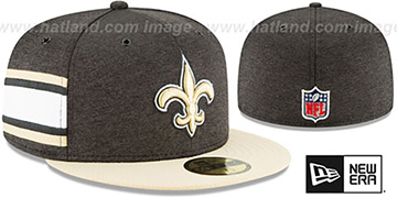 Saints HOME ONFIELD STADIUM Black-Gold Fitted Hat by New Era