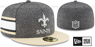 Saints HOME ONFIELD STADIUM Charcoal-Gold Fitted Hat by New Era