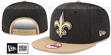 Saints 'LOGO GRAND SNAPBACK' Charcoal-Gold Hat by New Era