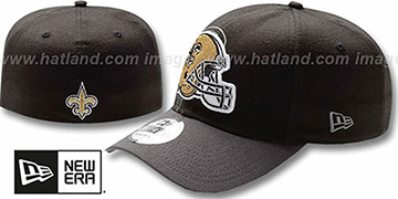 Saints NFL BLACK-CLASSIC FLEX Hat by New Era