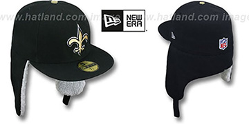 Saints NFL-DOGEAR Black Fitted Hat by New Era