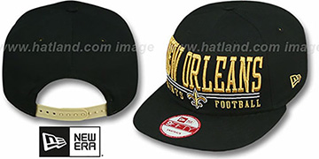 Saints 'NFL LATERAL SNAPBACK' Black Hat by New Era