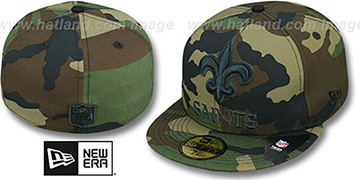 Saints NFL 'MIGHTY-XL' Army Camo Fitted Hat by New Era
