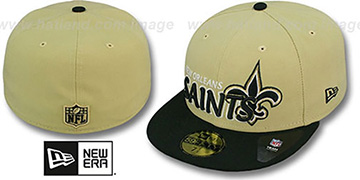 Saints NFL-TIGHT Gold-Black Fitted Hat by New Era