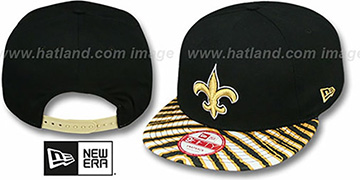 Saints 'NFL ZUBAZ SNAPBACK' Black Hat by New Era