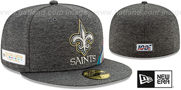 Saints ONFIELD CRUCIAL CATCH Grey Fitted Hat by New Era