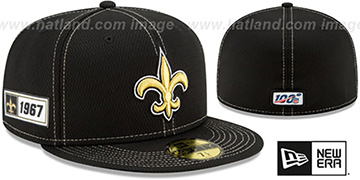 Saints 'ONFIELD SIDELINE ROAD' Black Fitted Hat by New Era