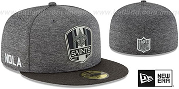 Saints ROAD ONFIELD STADIUM Charcoal-Black Fitted Hat by New Era