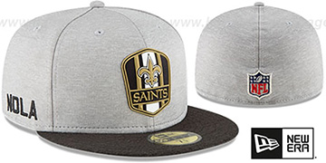 Saints ROAD ONFIELD STADIUM Grey-Black Fitted Hat by New Era