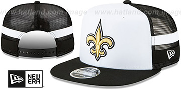 Saints 'SIDE-STRIPED TRUCKER SNAPBACK' Hat by New Era