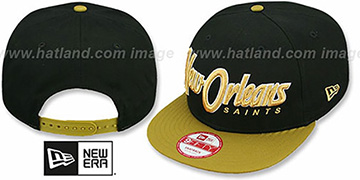 Saints SNAP-IT-BACK SNAPBACK Black-Gold Hat by New Era