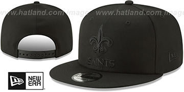 Saints TEAM-BASIC BLACKOUT SNAPBACK Hat by New Era