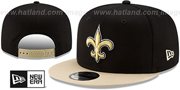 Saints TEAM-BASIC SNAPBACK Black-Gold Hat by New Era