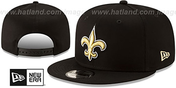 Saints TEAM-BASIC SNAPBACK Black Hat by New Era