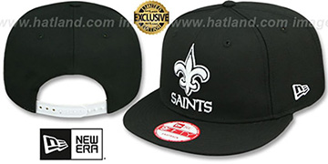 Saints 'TEAM-BASIC SNAPBACK' Black-White Hat by New Era
