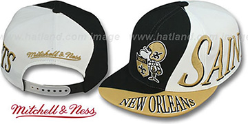 Saints 'THE SKEW SNAPBACK' Hat by Mitchell & Ness