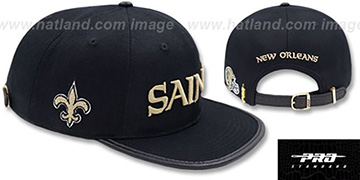 Saints WORDMARK STRAPBACK Black Hat by Pro Standard