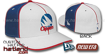 SD Clippers 'OLD SCHOOL PINWHEEL-3' White-Royal Fitted Hat