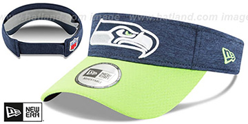 Seahawks 18 NFL STADIUM Navy-Lime Visor by New Era
