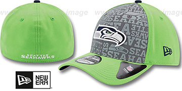 Seahawks '2014 NFL ALT DRAFT FLEX' Lime Hat by New Era