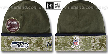 Seahawks '2014 SALUTE-TO-SERVICE' Knit Beanie Hat by New Era