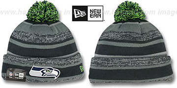 Seahawks '2014 STADIUM' Grey-Grey Knit Beanie Hat by New Era