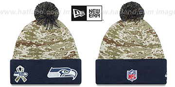 Seahawks 2015 SALUTE-TO-SERVICE Knit Beanie Hat by New Era