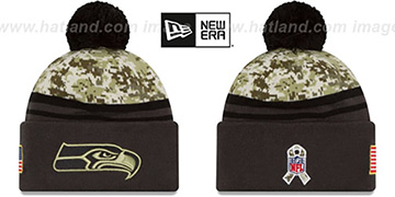 Seahawks 2016 SALUTE-TO-SERVICE Knit Beanie Hat by New Era