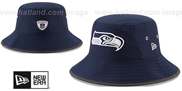 Seahawks 2017 NFL TRAINING BUCKET Navy Hat by New Era