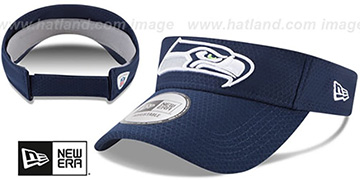 Seahawks 2017 NFL TRAINING VISOR Navy by New Era