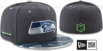 Seahawks '2017 SPOTLIGHT' Charcoal Fitted Hat by New Era