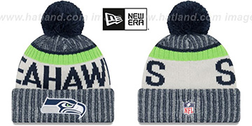 Seahawks '2017 STADIUM BEANIE' Navy Knit Hat by New Era