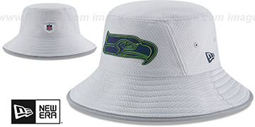 Seahawks 2018 NFL TRAINING BUCKET Grey Hat by New Era