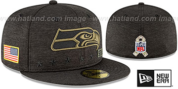 Seahawks 2020 SALUTE-TO-SERVICE ST Black Fitted Hat by New Era