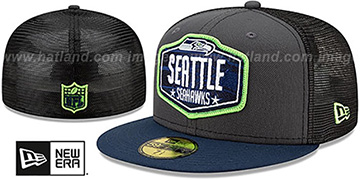 Seahawks '2021 NFL TRUCKER DRAFT' Fitted Hat by New Era