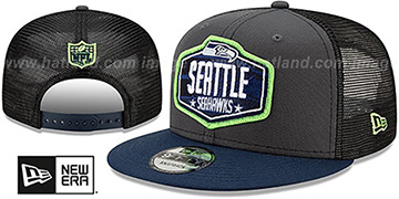 Seahawks 2021 NFL TRUCKER DRAFT SNAPBACK Hat by New Era
