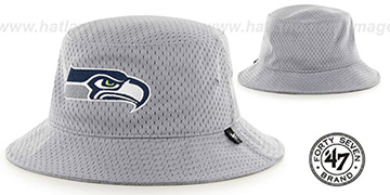 Seahawks BACKBOARD JERSEY BUCKET Grey Hat by Twins 47 Brand